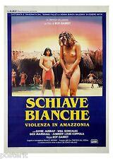 manifesto 2F originale SCHIAVE BIANCHE Elvire Audray Mario Gariazzo 1985