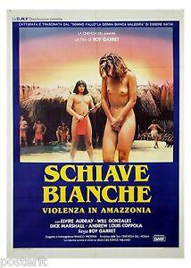 manifesto-2F-film-SCHIAVE-BIANCHE-Elvire-Audray-Mario-Gariazzo-1985-Amazzonia