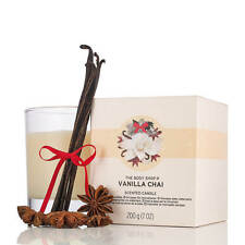 THE BODY SHOP Vanilla Chai 7.0 Ounces Scented Candle (LIMITED EDITION)