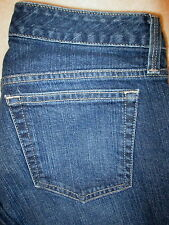 Eddie Bauer Natural Fit Stretch Barely Boot Womens Blue Jeans Size 4 R x 32 Mint