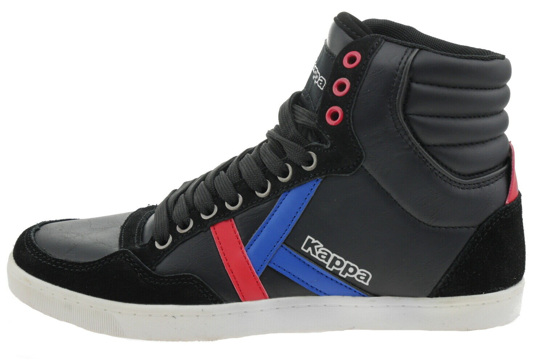 Kappa Korea Ll mid 894783 Leather High Top Trainers Black 187230