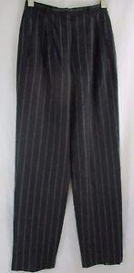 Pantalone grigio Taglia in vita caviglia righe lana alta a Armani alla D6 40 dritto nero a Giorgio 6wYvInqr6F