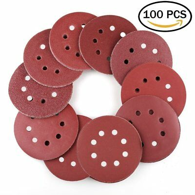 100PCS 40 60 80 120 180 220 240 320 400 800 Grit Assorted Professional Sandpaper by LotFancy 3 Inch 7 Hole Sanding Discs Hook and Loop Random Orbital Sander Round Sand Paper