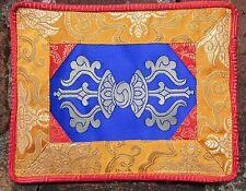 "GORGEOUS DORJE/VAJRA 8.5"" x 7"" SILK SATIN ALTAR CLOTH TIBETAN BUDDHIST NEPAL"