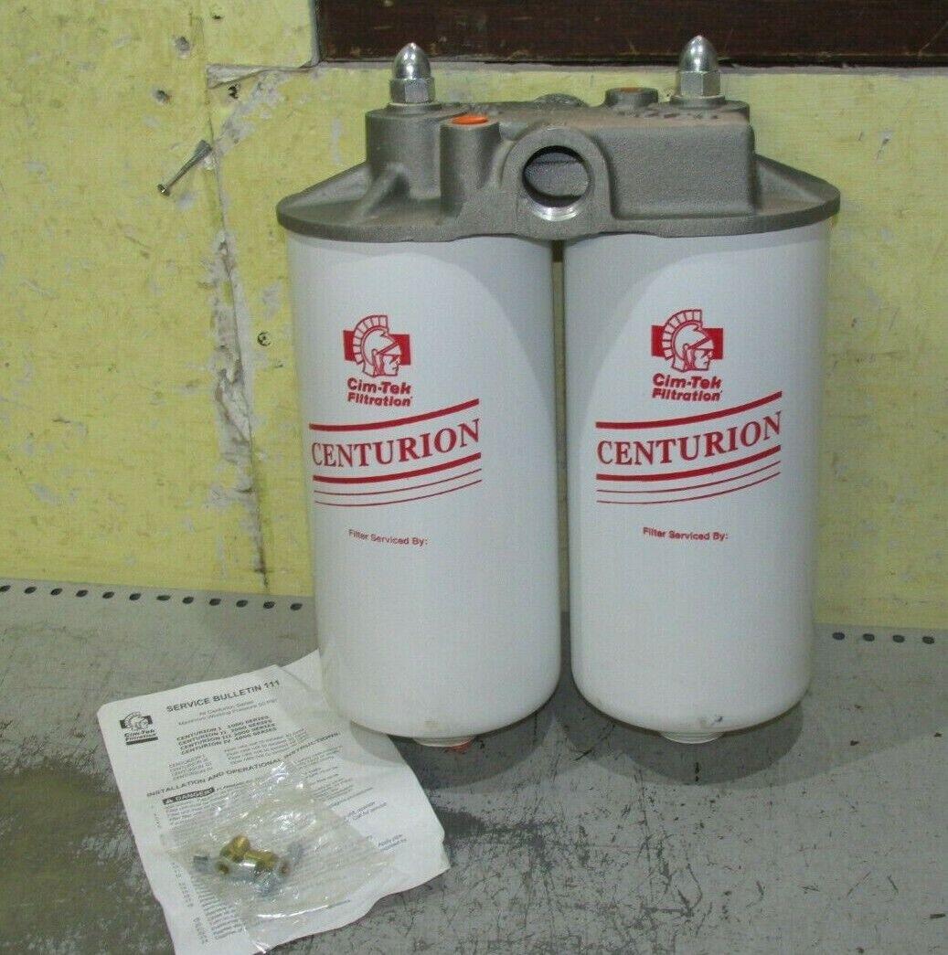 CIM-TEK Centurion Twin Filter Housing 1   Water Particle series 2000
