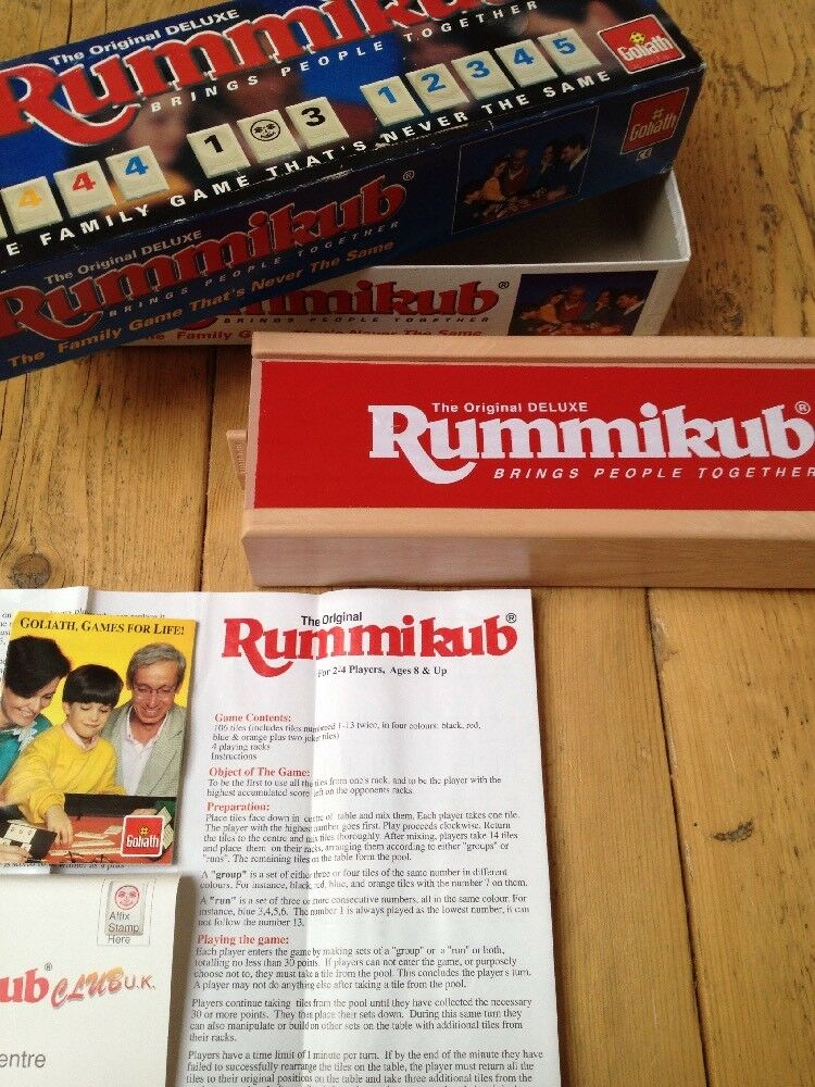 RUMMIKUB - THE ORIGINAL DELUXE game with solid case - Goliath