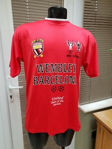 Details About Manchester United Football Shirt Champions League Final 1999 Barcelona