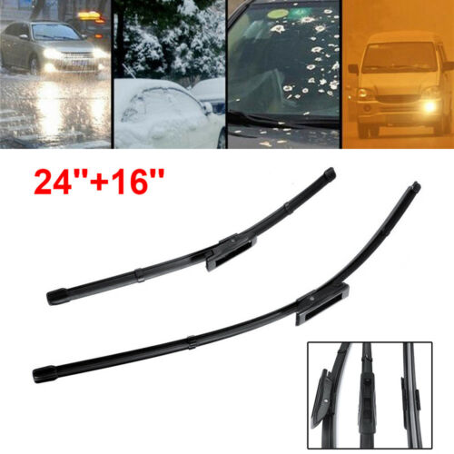 "FOR RENAULT Megane 08-15 FLAT WINDSCREEN WIPER BLADES 24/""16/"" FAST SHIP"