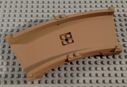 LEGO Dark Tan 17x12x2 Curved City Racers Car Vehicle Track System Road Piece