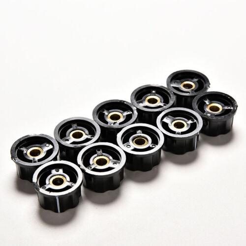 10x Neue Qualitätskontrollen Drehknopf für 6mm Rändelwelle Potentiometer CN