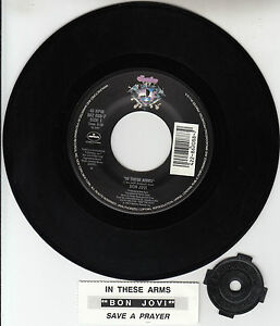 BON-JOVI-In-These-Arms-7-45-rpm-vinyl-record-juke-box-title-strip-RARE