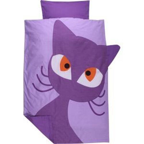Green Cotton Freds world Bébé Linge De Lit Cats Chat violet 40//60 100//135