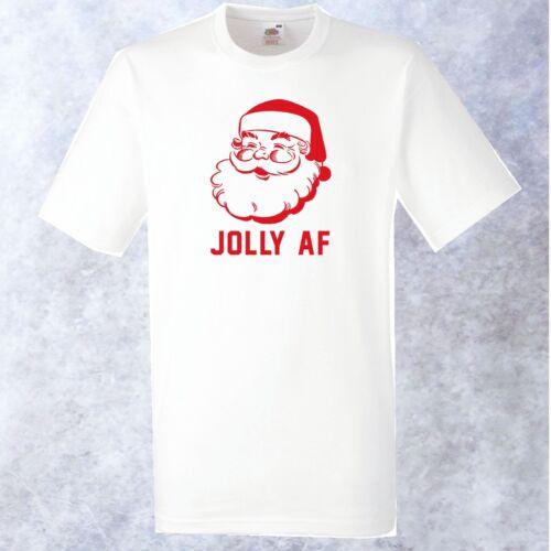 Jolly AF t-shirt blanc-grossier drôle noël père noël blague noël houes