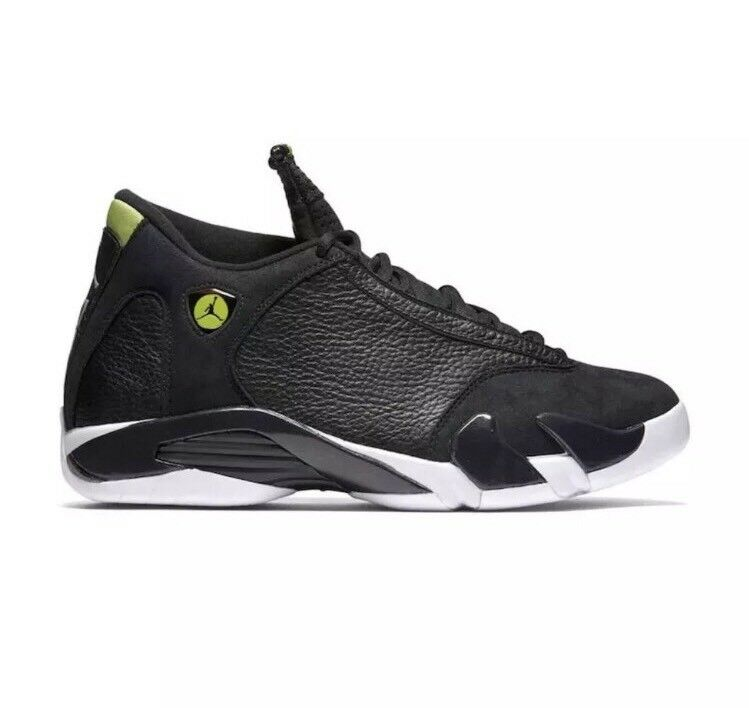 Nike Air Jordan 14 XIV Retro Indiglo Vivid Green Sz 15 Black White 487471-005
