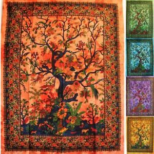 Wandbehang-Lebensbaum-Baum-des-Lebens-55X85-Zoll-Tree-of-Life-Wandbild-Tapestry