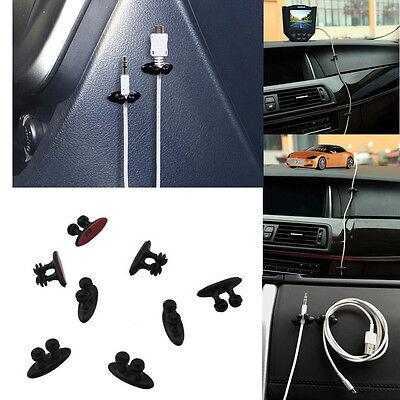 Plastic 8Pcs Car Charger Line Headphone USB Cable Car Clip Interior Accessories