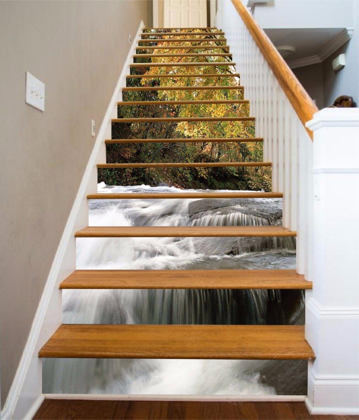 3D Forest River 533 Stair Risers Decoration Photo Mural Vinyl Decal WandPapier UK