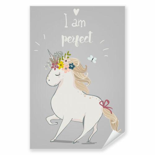 Postereck 3968 Poster Leinwand Kinderzimmer Einhorn Perfekt Tier Fantasie