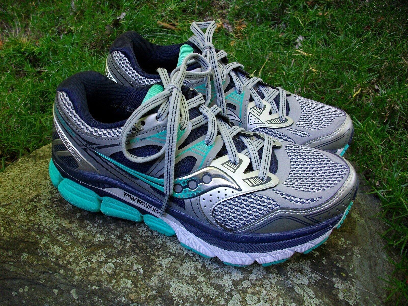 New Women's Saucony Redeemer ISO Running shoes shoes shoes Silver Green bluee Size 5M EU 35.5 779bfa