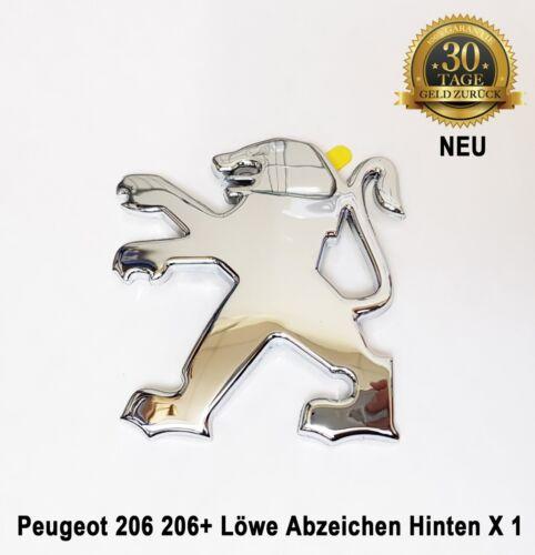 Peugeot 206 206 Löwe Emblem Abzeichen Hinten Bonnot 3 /& 5 Tür Neu 7810J8