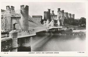PC29286 Conway Castle and Suspension Bridge. Tuck. RP