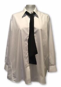 NEW-ACNE-STUDIOS-WHITE-LOOSE-CUT-SHIRT-BLOUSE-WITH-NECK-TIE-36-415