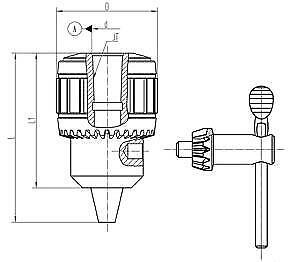 Keyed 0-1//4 TALON Super BALL Bearing HD Drill Chucks JT2 JACOBS TAPER