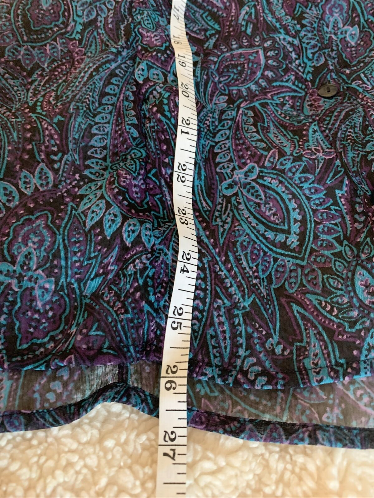 Christopher and banks women's blue paisley blouse… - image 10