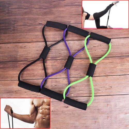Sports Exercise Fitness Yoga 8 Shape Pull Rope Tube Equipment Gym ResistancYRDE