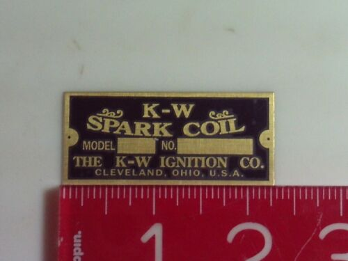 K-W Spark Coil Reproduction Nameplate