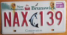 New Brunswick 2011 CONSERVATION FISH GRAPHIC License Plate # NAX 139
