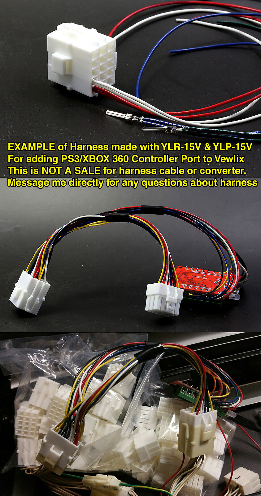 Jst Ylp 12v Male Housing With Female Pins Vewlix Harness Connector Xbox 360 Wiring Control Panel Ebay