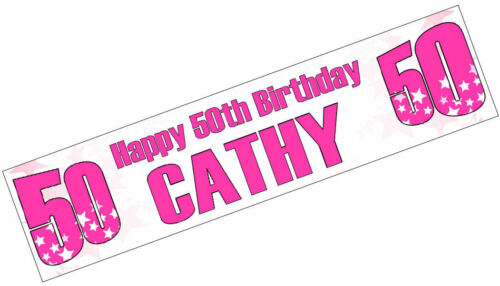 Rose Wine 60th Birthday Banner x2 Party Decoration Ladies Nan Mum ANY NAME