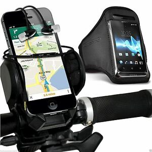 Quality-Bike-Bicycle-Holder-Sports-Armband-Case-Cover-In-Ear-Headphones-Black