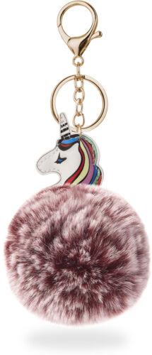 Schlüsselanhänger aus Fell Bommel Pompon modisch Anhänger Eis puderrosa