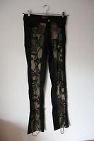 String Pants Denim Schwarz/Camouflage von Aderlass, Größe 30 (Gothic/Punk/Indie)