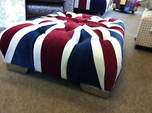 union jack furniture. Image Is Loading Small-Union-Jack-Footstool-Pouffe-Living-Room-Chrome- Union Jack Furniture N