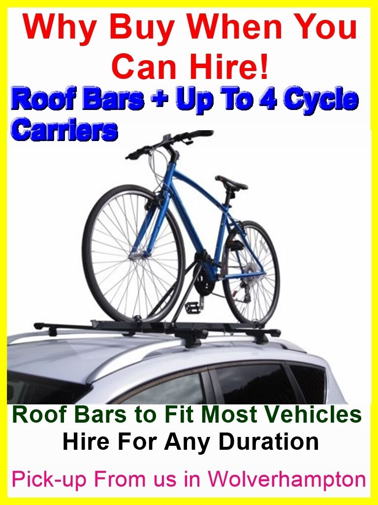 UPTO 14 DAYS HIRE ROOF BARS & 2 THULE CYCLE CARRIERS IDEAL FORD FOCUS & ESTATE