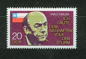 ALEMANIA-RDA-EAST-GERMANY-1974-MNH-SC-1521-Pablo-Neruda-poet