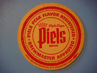 Vintage Beer Coaster Mat >< PIEL'S BROS Brewery Light Lager ~ Brooklyn, NEW YORK