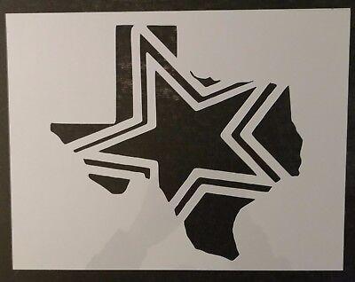 "State of Texas Dallas Cowboys Star 11/"" x 8.5/"" Custom Stencil FAST FREE SHIPPING"