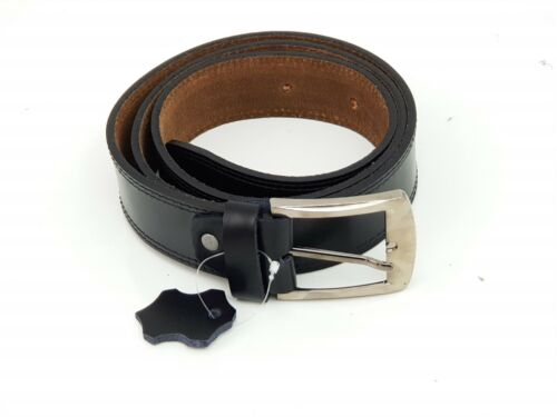 Real Genuine Black Leather Mens Leather Belt Belts Trouser /& Jeans Widths