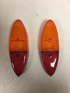 Fiat-1100-Tail-Light-Lens-Set-Red-and-Amber-4-Pieces-NEW-216AB