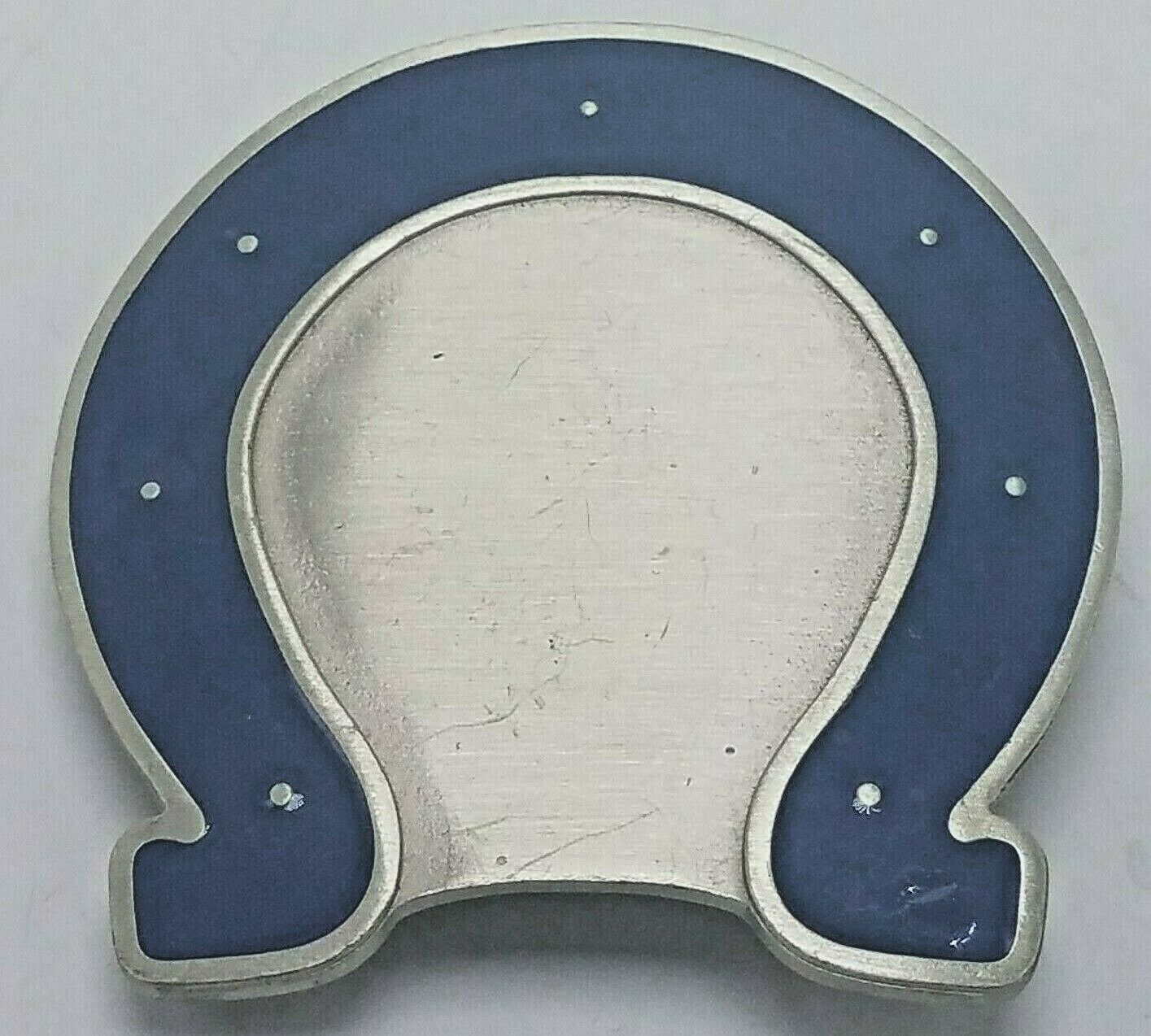 Indianapolis Colts NFL Football Officially Licensed Belt Buckle Pewter & Enamel