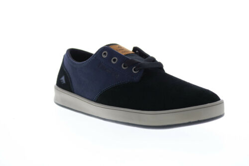 Emerica The Romero Laced Mens Black Suede Skate Sneakers Shoes 8