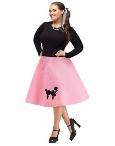 62d61f0d3f7e5 50s 50's Poodle Skirt Grease Adult Costume Accessory, Plus Size 16W ...