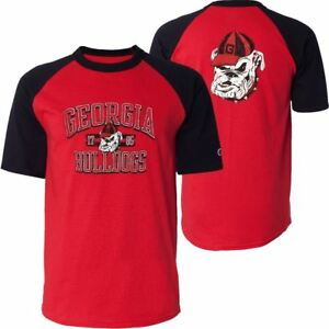 159aae9ecf07 Georgia Bulldogs T-Shirt Men's Run And Shoot Champion NCAA Red/Black ...