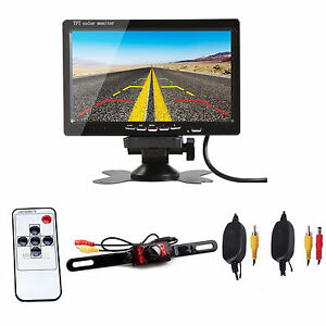 7 tft lcd car rear view backup monitor wireless parking night rh ebay com Back Up Camera Wiring Diagram TFT LCD Monitor for Car