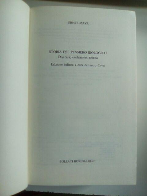 V0264-Ernst Mayr_Storia del pensiero biologico