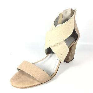 Tahari Aruba Damens's 7.5 Größe 7.5 Damens's Nude Canvas Heel Open Toe Sandales.     127b2d